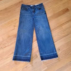 New Wide Leg Cropped Jeans